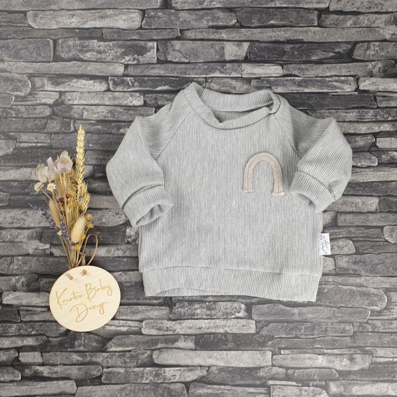 Sweater Paule - Hellgrau Ripp